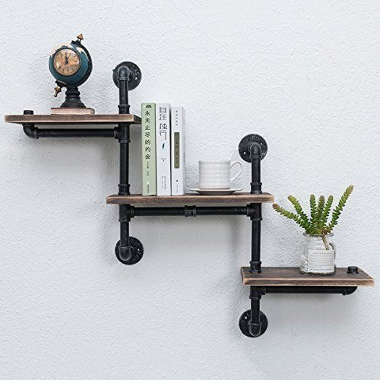 Innovative DIY Industrial Pipe Shelves You Can Make At Home 01