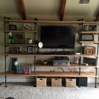 Innovative DIY Industrial Pipe Shelves You Can Make At Home 03