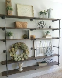 Innovative DIY Industrial Pipe Shelves You Can Make At Home 08