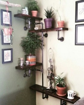 Innovative DIY Industrial Pipe Shelves You Can Make At Home 28