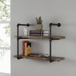 Innovative DIY Industrial Pipe Shelves You Can Make At Home 31