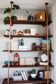 Innovative DIY Industrial Pipe Shelves You Can Make At Home 39