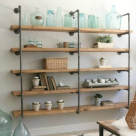 Innovative DIY Industrial Pipe Shelves You Can Make At Home 40