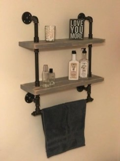 Innovative DIY Industrial Pipe Shelves You Can Make At Home 44