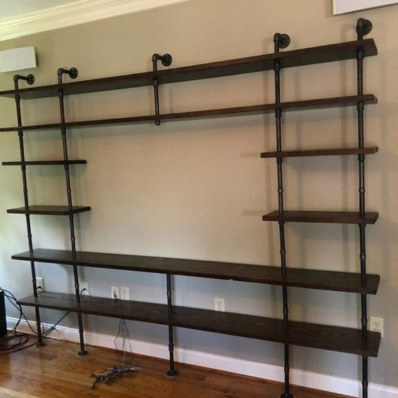 Innovative DIY Industrial Pipe Shelves You Can Make At Home 50