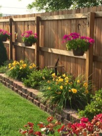 Beautiful Garden Fence Decorating Ideas To Follow 12