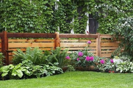 Beautiful Garden Fence Decorating Ideas To Follow 43