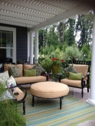 Comfy Spring Backyard Ideas With A Seating Area That Make You Feel Relax 06