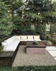 Comfy Spring Backyard Ideas With A Seating Area That Make You Feel Relax 07