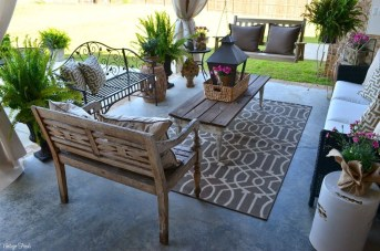 Comfy Spring Backyard Ideas With A Seating Area That Make You Feel Relax 12