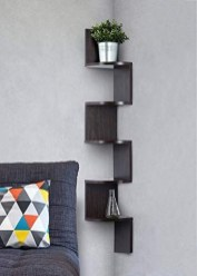 Creative Floating Corner Shelves For Living Room Organization Ideas 05