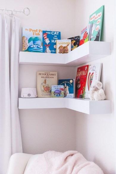 Creative Floating Corner Shelves For Living Room Organization Ideas 12