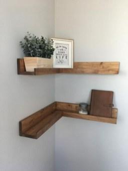 Creative Floating Corner Shelves For Living Room Organization Ideas 20