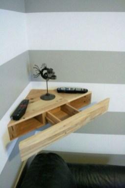 Creative Floating Corner Shelves For Living Room Organization Ideas 43