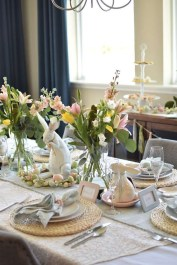 Easy And Natural Spring Tablescape To Home Decor Ideas 33