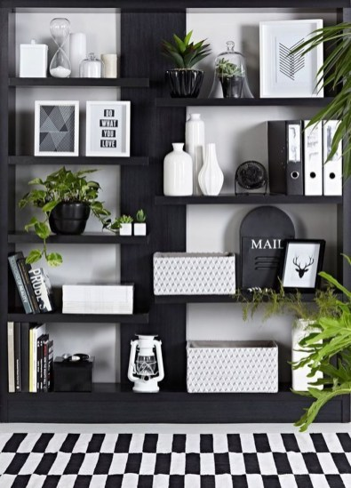 Fabulous Bookcase Decorating Ideas To Perfect Your Interior Design 36