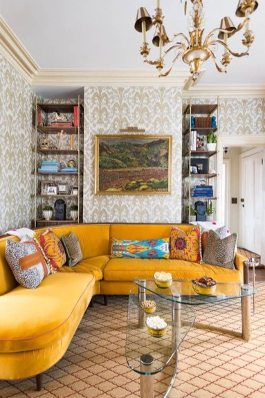 Fancy Gold Color Interior Design Ideas For Your Home Style To Copy 27