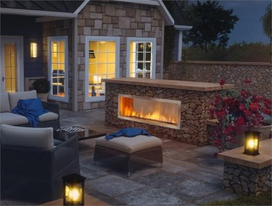 Marvelous Backyard Fireplace Ideas To Beautify Your Outdoor Decor 03