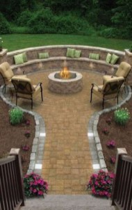 Marvelous Backyard Fireplace Ideas To Beautify Your Outdoor Decor 04