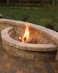 Marvelous Backyard Fireplace Ideas To Beautify Your Outdoor Decor 10