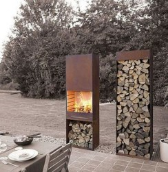 Marvelous Backyard Fireplace Ideas To Beautify Your Outdoor Decor 14