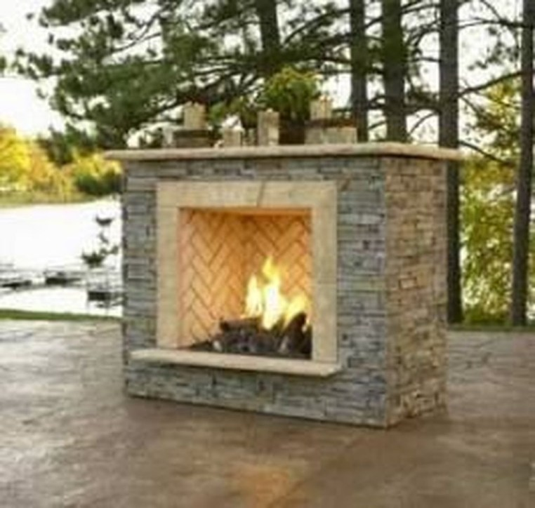Marvelous Backyard Fireplace Ideas To Beautify Your Outdoor Decor 40