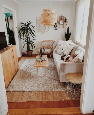 Popular Ways To Efficiently Arrange Furniture For Small Living Room 06