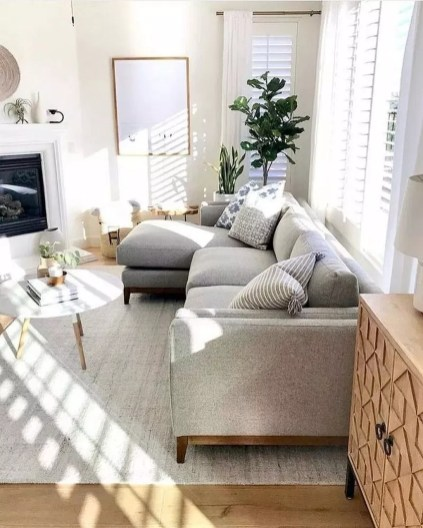 Popular Ways To Efficiently Arrange Furniture For Small Living Room 42