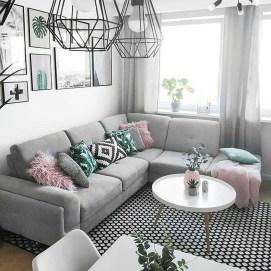 Popular Ways To Efficiently Arrange Furniture For Small Living Room 48