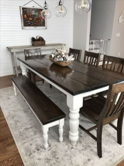 Rustic Farmhouse Table Ideas To Use In The Decor 06