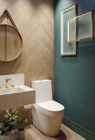 Unordinary Bathroom Design Ideas With Stunning Wood Shades 23