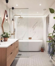 Unordinary Bathroom Design Ideas With Stunning Wood Shades 30
