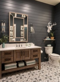 Unordinary Bathroom Design Ideas With Stunning Wood Shades 31