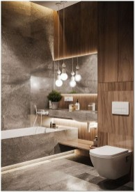 Unordinary Bathroom Design Ideas With Stunning Wood Shades 32