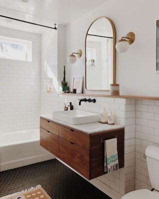 Unordinary Bathroom Design Ideas With Stunning Wood Shades 35