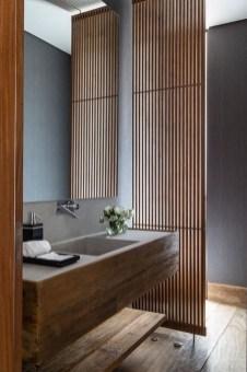 Unordinary Bathroom Design Ideas With Stunning Wood Shades 37
