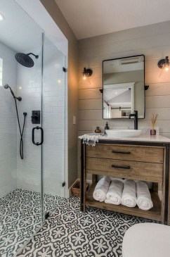 Unordinary Bathroom Design Ideas With Stunning Wood Shades 43