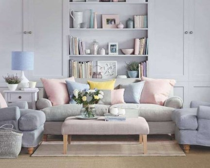 Cute Pastel Living Room Design Ideas That You Should Have 18