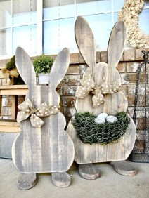 Gorgeous Outdoor Easter Decorations To Bedeck Your House In Style 01