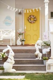 Gorgeous Outdoor Easter Decorations To Bedeck Your House In Style 05