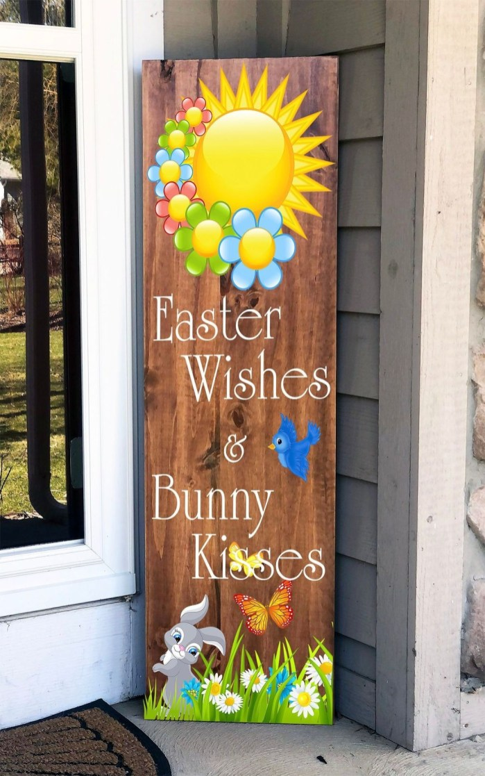 Gorgeous Outdoor Easter Decorations To Bedeck Your House In Style 18