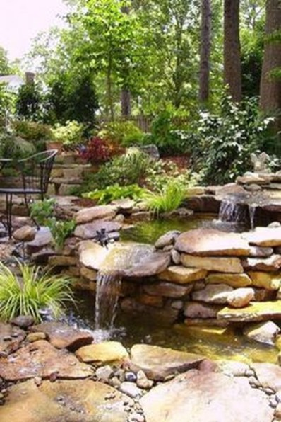 Innovative DIY Backyard Waterfall Ideas To Beautify Your Home Garden 22