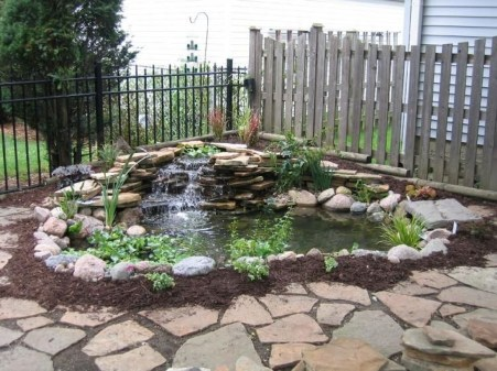 Innovative DIY Backyard Waterfall Ideas To Beautify Your Home Garden 29