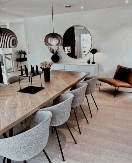 Modern Dining Room Design Ideas That Are Comfortable 13
