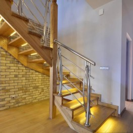 Perfect Home Stair Design With Light That Very Beautiful 02