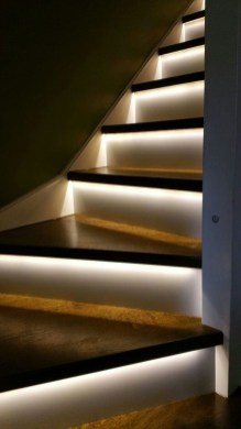 Perfect Home Stair Design With Light That Very Beautiful 08