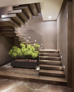 Perfect Home Stair Design With Light That Very Beautiful 37