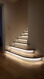 Perfect Home Stair Design With Light That Very Beautiful 39