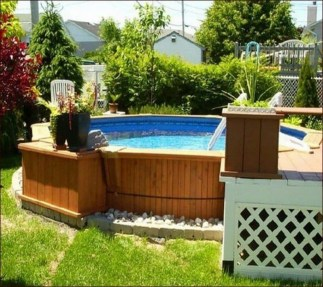 Simple Tiny Swimming Pool Ideas For Stunning Small Backyard 35