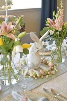 Superb Easter Table Decoration Ideas To Give Your Tablescape A Festive Vibe 02